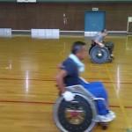 障がい者スポーツ指導員の方といっしょに練習!