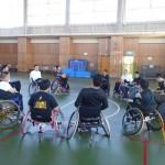 東海車椅子ツインバスケ交流会が金沢市障害者高齢者体育館であった♪