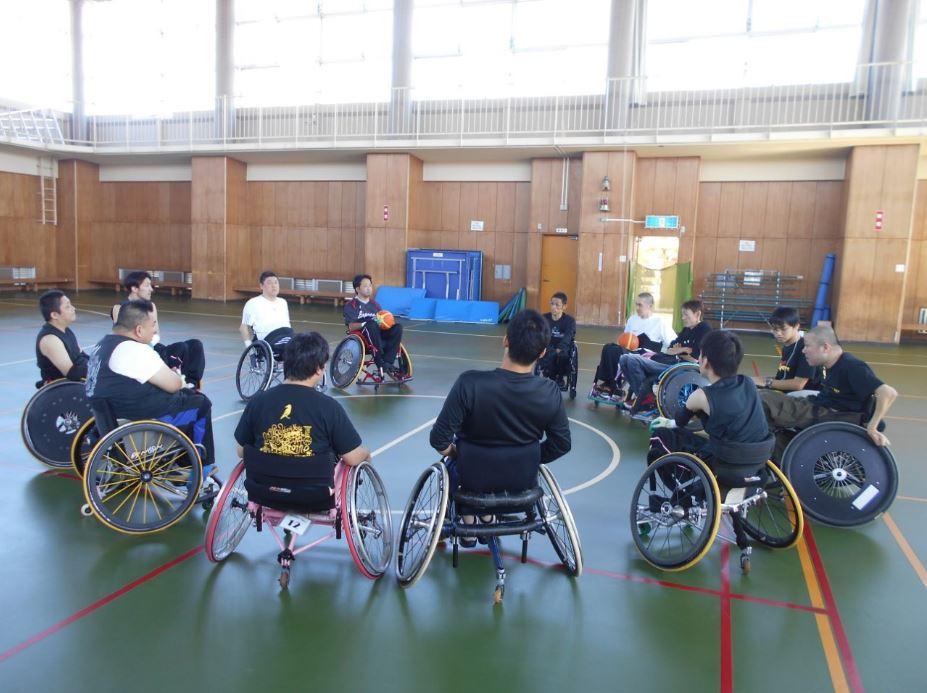 東海車椅子ツインバスケ交流会の集合写真