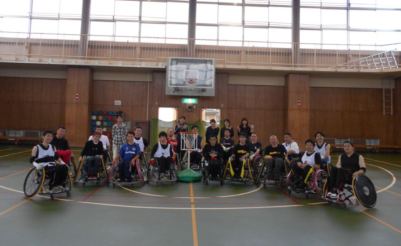 東海車椅子ツインバスケ交流会集合写真