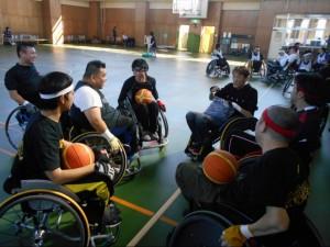 東海車椅子ツインバスケ交流会でゲーム①