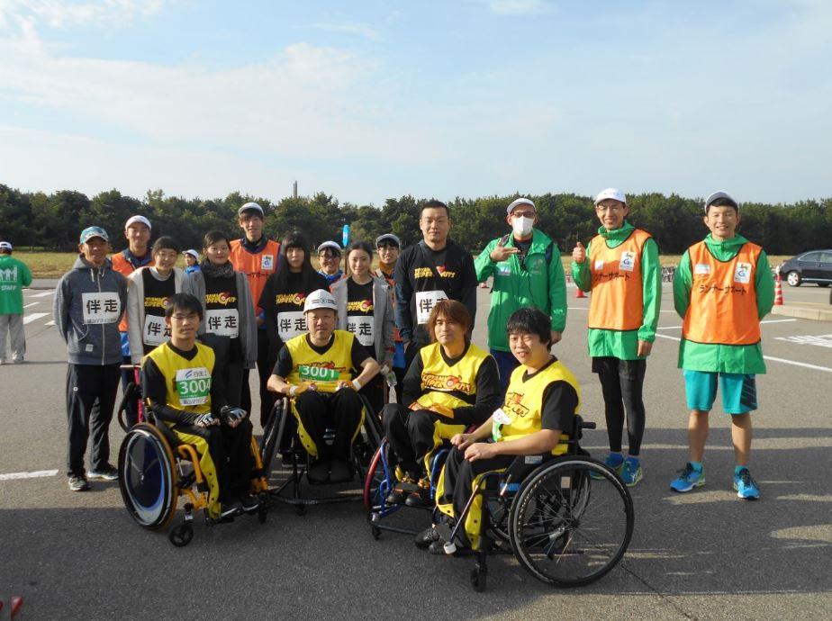 富山マラソン記念撮影