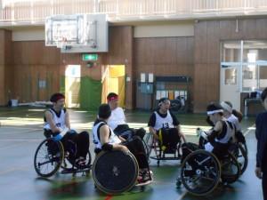 東海車椅子ツインバスケ交流会でゲーム②