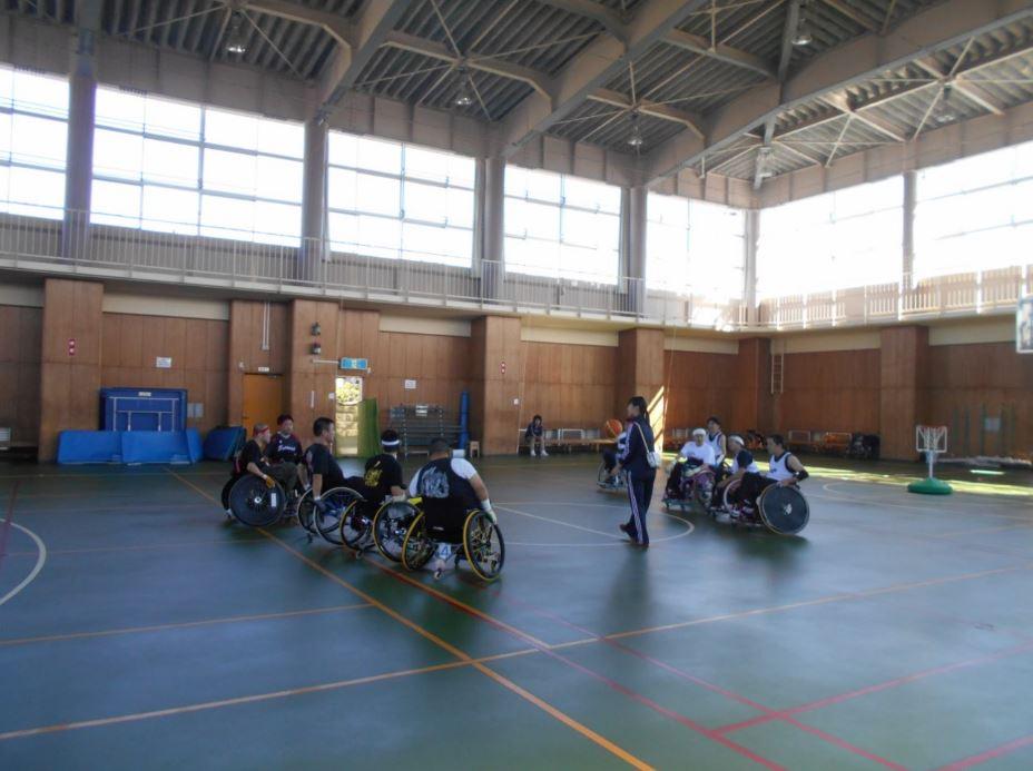 東海車椅子ツインバスケ交流会でゲーム開始